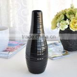 concise hot selling Fashion colored mosaic decorated black ceramic vase