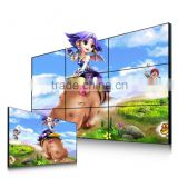 46 inch LCD video WALL seamless ultra narrow bezel indoor advertising TV walls, wall mounted advertising board