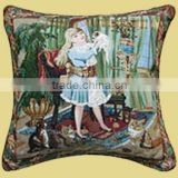 Good Looking Beautiful Girl Design Printed Cushion Cover CT-055
