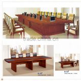 super huge office mdf wood glass top conference table factory sell directly HP42