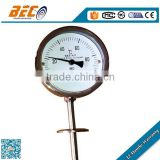 stainless steel temperature measuring devices pipe gauge WSS-411SS