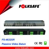 Folksafe 32-CH passive video balun, RJ45 and detachable terminal blocks for UTP cat5e/6, FS-4632SR