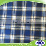 China wholesale latest design cotton madras check fabric/plaid fabric/grid fabric
