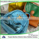 Inquiry about export wholesale used school bags used clothing used bags
