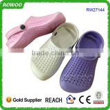 Men holey garden shoes in EVA ,carve pattern simple clogs,summer shoes made by injection machine
