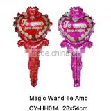 2016 Hot Sale hand holder Te Amo foil balloon for wedding mother's day valentine's day party decoration