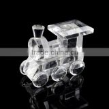 lovely crystal glass train model for baby shower favors