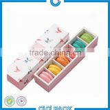 Customized bakery food packaging box for muffin cookies cakes desserts by food grade 350 white macaron box for sale