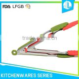 Wholesale kitchen daily useful silicone steel kitchen tongs set