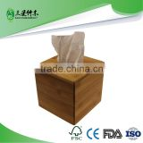 wholesale eco-friendly bamboo tissue box