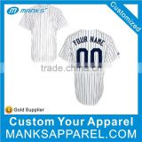 custom v neck pattern pinstripe baseball jersey