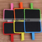 Color chalkboard Practical wooden blackboard Message board Multi-function clip PN6383