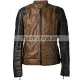 Mens Leather Biker Jackets The Legend Brown Jacket Motorcycle & Auto Racing 100% Genuine Leather