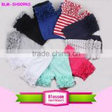 Wholesale Cotton Soft Kids Cotton Ruffled Icing Shorts Solid Color Toddler Girls Icing Shorts                                                                         Quality Choice