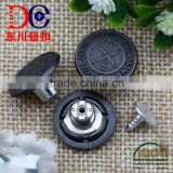 Branded Logo Silver Jeans Button Metal Tack Button Customized Alloy Jeans Button For Women's Clothing
