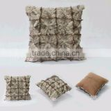 Vogue Design Home Textile Pieced Fox Head Fur Pillow Case Animal Fur Pillow Could Custom