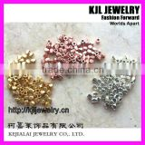 GZKJL-CT0005 Faceted solid metal copper alloy bead,gold silver rose gold Nugget loose Beads 3mm