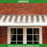Aluminum folding full cassette awning