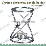 Chrome Wire Candle Stand