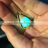 Vintage Locket Glow In The Dark Pendant Necklaces Glowing Luminous Stone Beads Pendant in Diffferent Shape Party Gifts