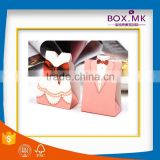 High Quality Hot Sale Fashionable Personalized Wholesale Paperboard Pink Wedding Paper Box