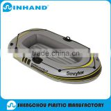 2016 China supplier fascinating 0.9mm PVC floor inflatable grey boat fishing rubber kaya