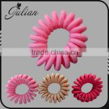 Fashion small Elastic Telephone Wire Hair Band Wrapped Fabric Ponytail Holders Bracelet Colorful Hair Accessories FHHTA0017-2