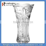 LongRun 2015 top selling home decoration flower embossed flower glass vases made in china