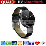 High Quality Bluetooth Heart Rate Monitor Smart Watch For iPhone Support SYNC Phone, Message, Contacts T
