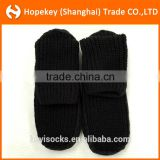 Adult home socks with anti-slip sole, sewing sole under foot,100% Acrylic Chunky Cable Knit socks,