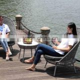 Excellent Quality Bistro Set Garden Table Swivel Chair Rattan Outdoor Furnitur