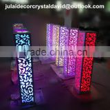 for stage decoraHigh quality crystal wedding lighted mandaps /wedding crystal columns mandap/pillar for wedding stage decoration
