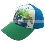 Digital printing common fabric feature 6 panel satin baseball caps and hats