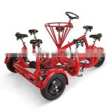 Europe 7 seat adjustable four wheel bike for adults for city tour