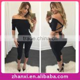 Sexy bandage girls jumosuits one piece long lady women's pants woman suit