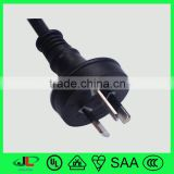SAA approved PVC insulated wire with Australia 3 flat pin power plug, high quality electrical plug