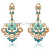 The new speed sell through selling earrings latest fashion pressed flowers hollow earrings