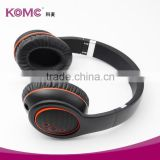 Hot sell handfree blue tooth headset, cheap headband wireless bluetooth headset stereo build in mic