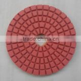 Manufacturer selling 3 inch high quality flexible wet diamond polishing pads reserved for marble granite