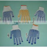 nylon pvc dotted safety gloves/oil gas resistant glove, cotton working oneside dotted safety glove