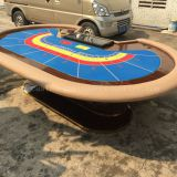 Colorful Galaxy Casino Baccarat Table Design For 9 Players