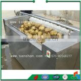 Sanshon MXJ-10G Fruit and Vegetable Brush washing and Peeling Machine Food Processing Machine
