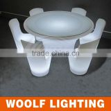 Waterproof Outdoor Illuminated Color LED Restaurant Furniture
