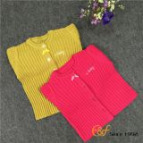 Convex ribs Knitted Sweater for Girls