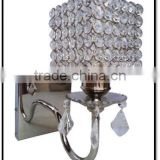 Decorative clear crystal wall lamp