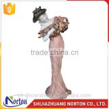 Alibaba Design sunset carving garden stone lady statues with hat NTMS-040Y