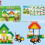 multicolor and multi-standards building blocks kid's educational plastic building blocks toy