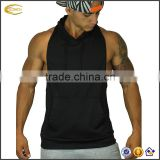 Ecoach OEM Customized Embroidered Gym Stringer Contrast Pocket Tank Top Mens Bodybuilding Sleeveless Hoodie