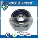 Made in Taiwan Nylon Insert Lock Nut DIN 985 ISO 7040 ANSI B18 16 3M ASME B18 16 6 Nyloc Nut