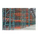 Steel Q235 Double Deep Pallet Racking  ,  Galvanized Storage Racking System